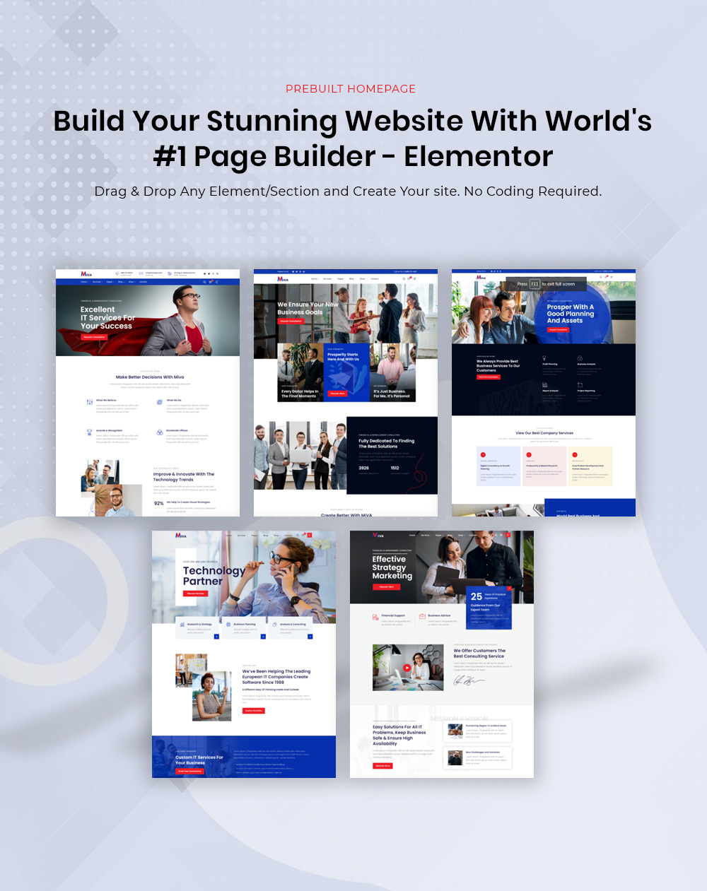 Build Your Stunning Website With Elementor
